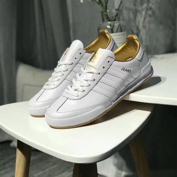 Adidas Jeans MKII Men Fashion Solid Color Leather Surface Retro Casual Plate Shoes Sneakers