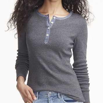 Women's Signature Waffle Henley | Free Shipping at L.L.Bean