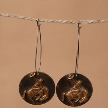 Vintage Western Tag Earrings CLICK FOR STYLES