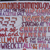 Skinny Love Lyric Drawing by TaylorandEmilysEtsy on Etsy