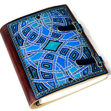 Gift Leather Journal Notebook Diary Gift for Him Gift for Her Custom Journal Blue Leather TiVergy Book