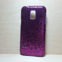 For Samsung Galaxy S5 Mini Dark Purple Glitter Case
