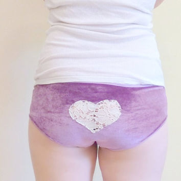 Velvet Heart Cheeky Panties Made to Order
