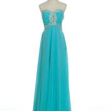 Custom A-line Sweetheart Sleeveless Floor-length Chiffon Beading Long Prom Dress Bridesmaid Dress Formal Evening Dress Party Dress 2013