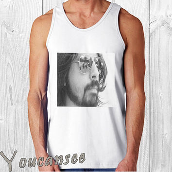 Foo Fighters David Eric Dave Grohl- men tank top ---print screen tank top for men, Awesome tank top for Man,Size S --- 3XL