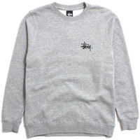 Basic Logo Crewneck Sweatshirt Heather Grey