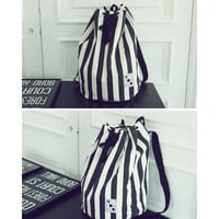 Striped Duffel Bag