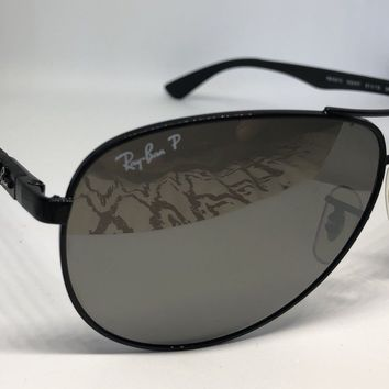 Ray Ban RB8313 002/K7 Carbon Fibre Polarised Aviator Sunglsses