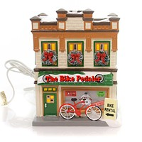 Department 56 House The Bike Pedaler Village Lighted Building
