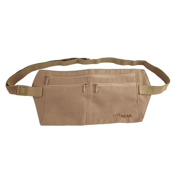 LiteGear Rfid-Blocking Money Belt (Beige/Khaki)