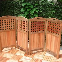 """48"""" Outdoor Acacia Privacy Screen with 4 Panels by Vifah"""