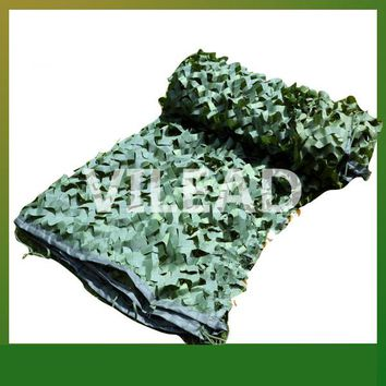 VILEAD 3M*10M Surplus Camouflage Netting Green Camo Netting Camping Sun Shade Camo Tarp Army Tarp Hunting Shelter Filet