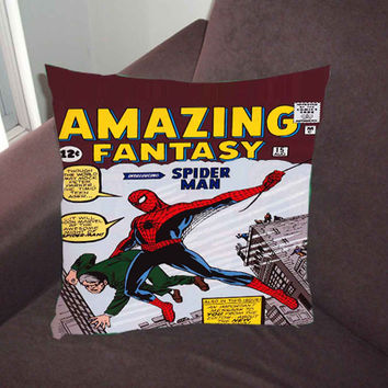 First Comic Book Appearance of Spiderman - Pillow Case, Pillow Cover, Custom Pillow Case *02*