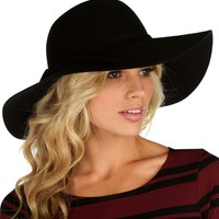 Black Autumn Wool Hat