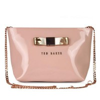 Day-First™ Ted Baker Women Shopping Leather Metal Chain Crossbody Satchel Shoulder Bag