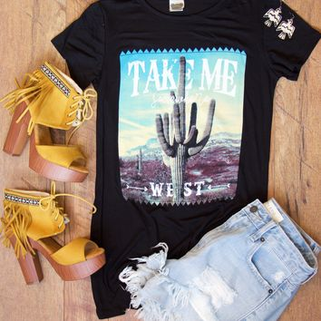 Take Me West Graphic Tee