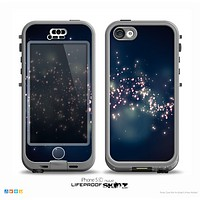 The Dark & Glowing Sparks Skin for the iPhone 5c nüüd LifeProof Case