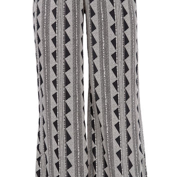 Geometric Wide Leg Pants