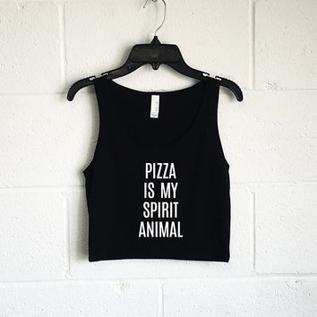 Pizza is my Spirit Animal Crop Tank