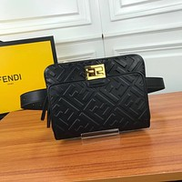 FENDI LEATHER WAIST CHEST PACK CROSS BODY BAG