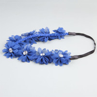 Full Tilt Chiffon Flower Headband Cobalt One Size For Women 21998721701