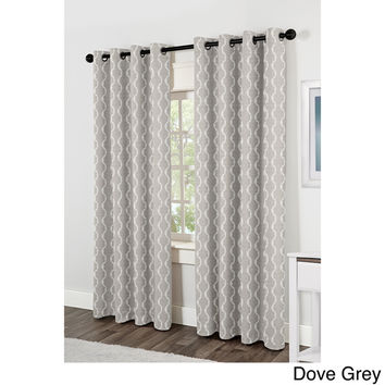 Baroque Grommet Top 84 inch Curtain Panel Pair | Overstock.com Shopping - The Best Deals on Curtains