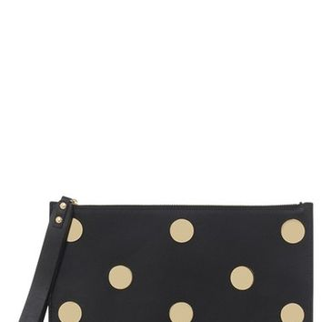 Sophie Hulme 'Talbot' Dot Stud Calfskin Leather Pouch   Nordstrom