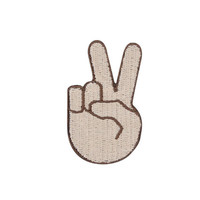 Peace Sign Emoji Iron on Patch