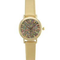 Women's Glitter Watch in Gold by Daytrip.