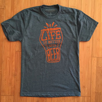 Life is Better with Beer Tri Blend Tee