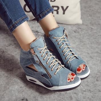 High Heels Gladiator Sandals Open Toe Shoes Sexy Lady Pumps Woman Wedges Shoes female