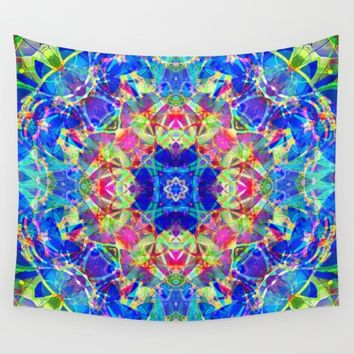 kaleidoscope Crystal Abstract G96 Wall Tapestry by MedusArt