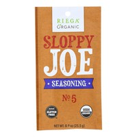 Riega Foods Organic Sloppy Joe Seasoning - Case Of 8 - 0.9 Oz.