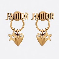 Dior Newest Fashion Women Cute Heart Pendant Earrings Accessories Jewelry
