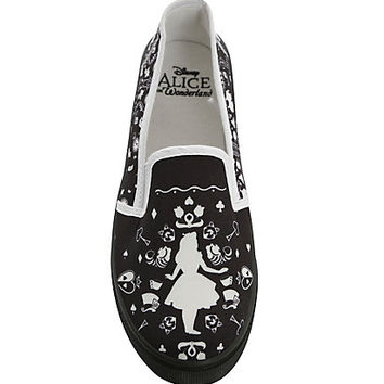 Disney Alice In Wonderland Silhouette Slip-On Shoes
