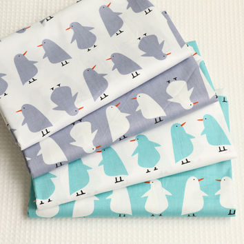 100% cotton fabric cartoon penguin design quilting patchwork crafts baby sewing clothes bedding home textile tissue