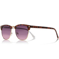 River Island Womens Brown tortoise shell retro sunglasses