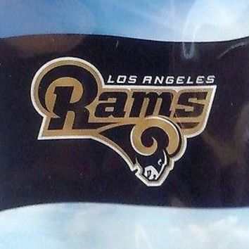 Los Angeles Rams NEW LOGO w/City Name Rico 3x5 Flag w/grommets Banner Football