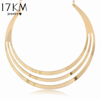 Women Multilayer Steampunk Necklace Collares Mujer Chain Choker Necklace Collane Donna Corrente Colar Feminino Maxi Necklace