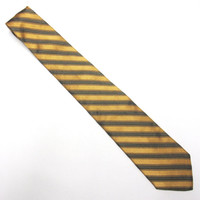 "Black Gold Necktie Jones New York 4"" Wide Tie Silk"