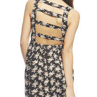 Mariana Floral Bar Back Dress | Wet Seal