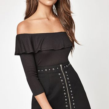LA Hearts Flounce Off-The-Shoulder Top at PacSun.com