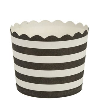 Simcha Collection Black Stripe Cupcake Wrappers Small/Case of 480