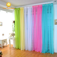 Boho Curtains Tulle Window Curtain Rainbow Curtains for the Living Room Drapes