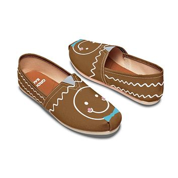 Gingerbread Man Christmas Casual Shoes