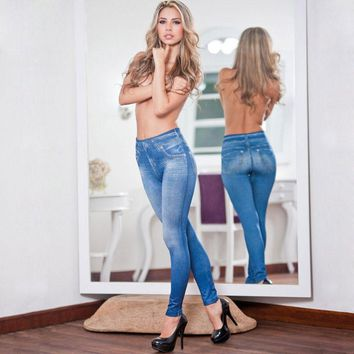 KISSmoon Jeggings jeans jean Blue black Grey lady Jeggins with faux pocket Denim Skinny Legging slim Women Legging KL0068