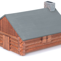 wood model kit - log cabin