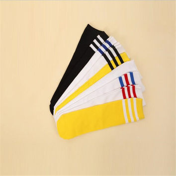 Korean Autumn Students Knee Socks Students Striped Children Socks Kids Cotton Boys Girls Baby Socks 2017 New Meia Infantil
