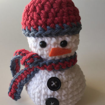 Crochet Snowman, Amigurumi, Christmas Decor, Holiday Decor