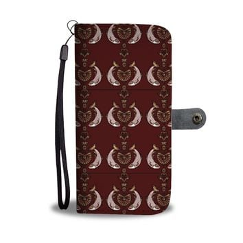 Fish Patterns on red Print Wallet Case-Free Shipping